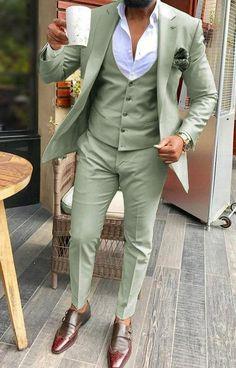 màu xanh nhạt Vest cưới hiện đại được thay đổi từ vest truyền thống
